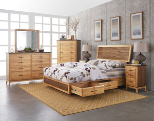 Thumbnail of Whittier Wood Furniture - Queen Adjustable Storage Bed