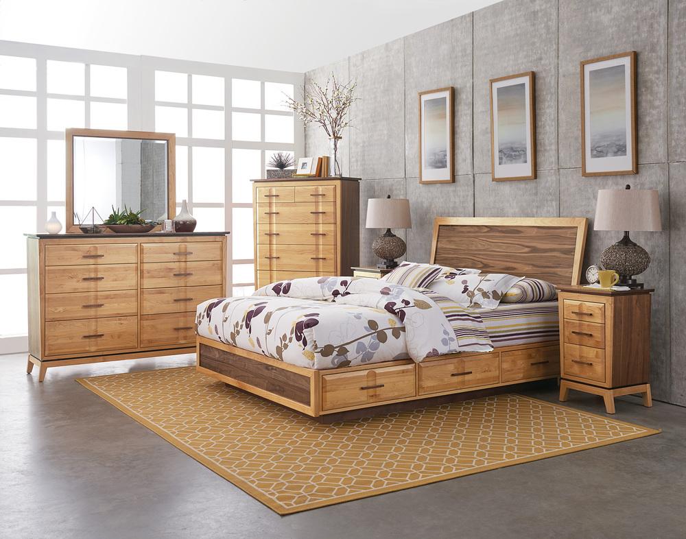 Whittier Wood Furniture - Queen Adjustable Storage Bed