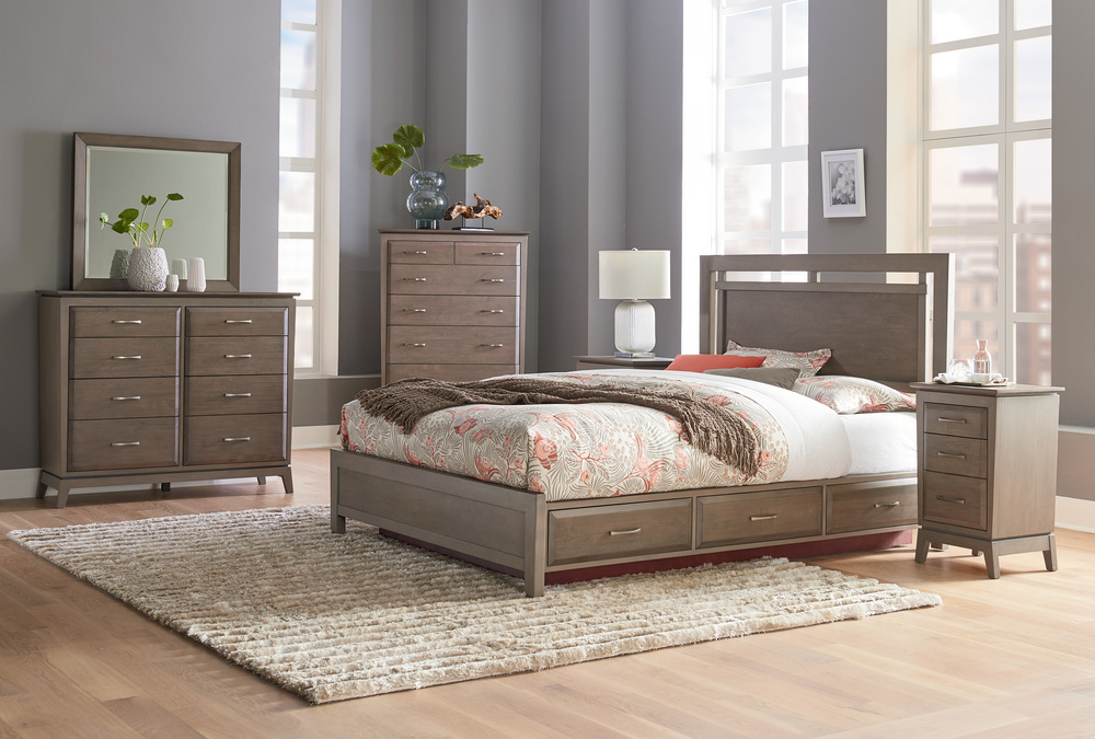 Whittier Wood Furniture - Queen Panel Storage Bed