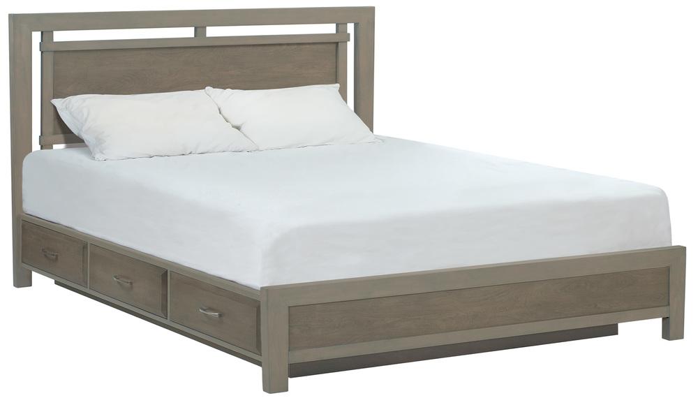 Whittier Wood Furniture - King Panel Storage Bed