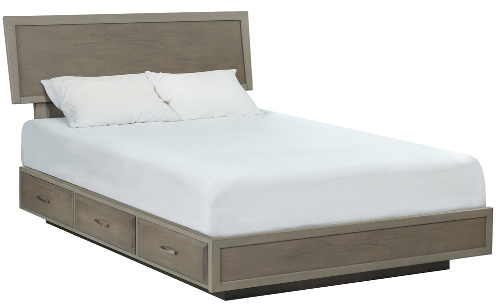 Whittier Wood Furniture - California King Adjustable Storage Bed