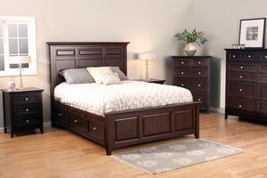 Thumbnail of Whittier Wood Furniture - McKenzie Mantel Queen Storage Bed