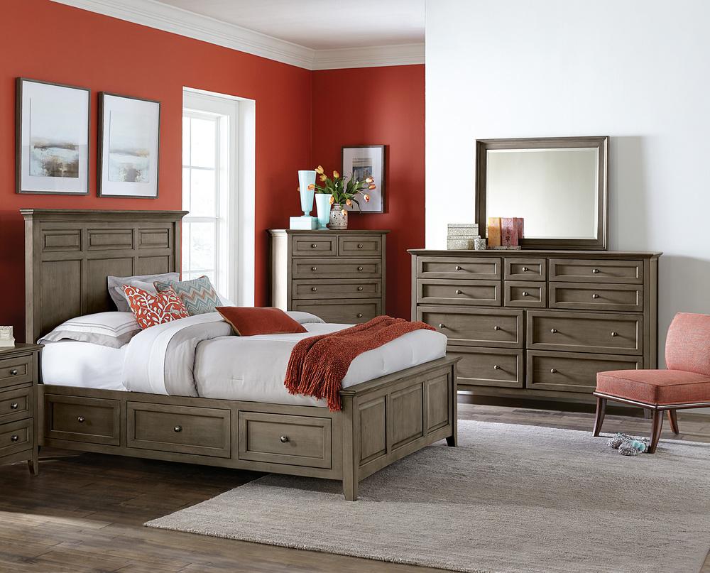 Whittier Wood Furniture - McKenzie Mantel Storage Bed