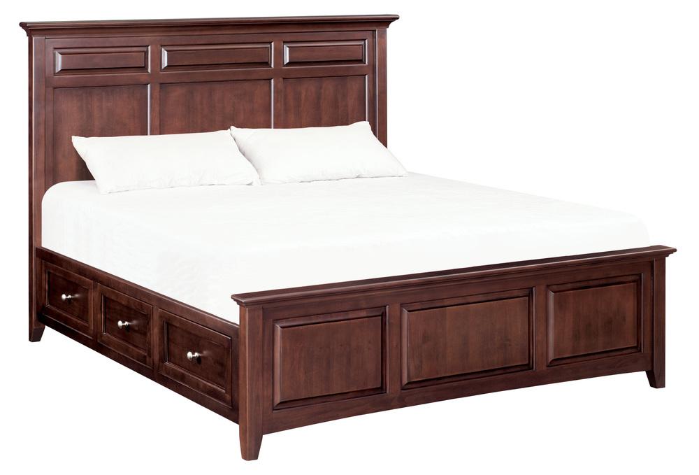 Whittier Wood Furniture - McKenzie Mantel King Storage Bed