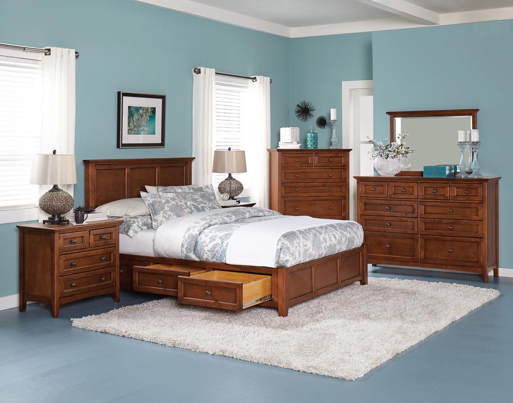 Whittier Wood Furniture - McKenzie Petite Storage Bed