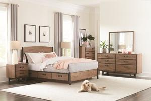 Thumbnail of Whittier Wood Furniture - Queen Curved Panel Storage Bed