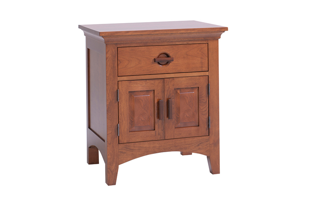 Country View Woodworking - One Drawer/Two Door Nightstand
