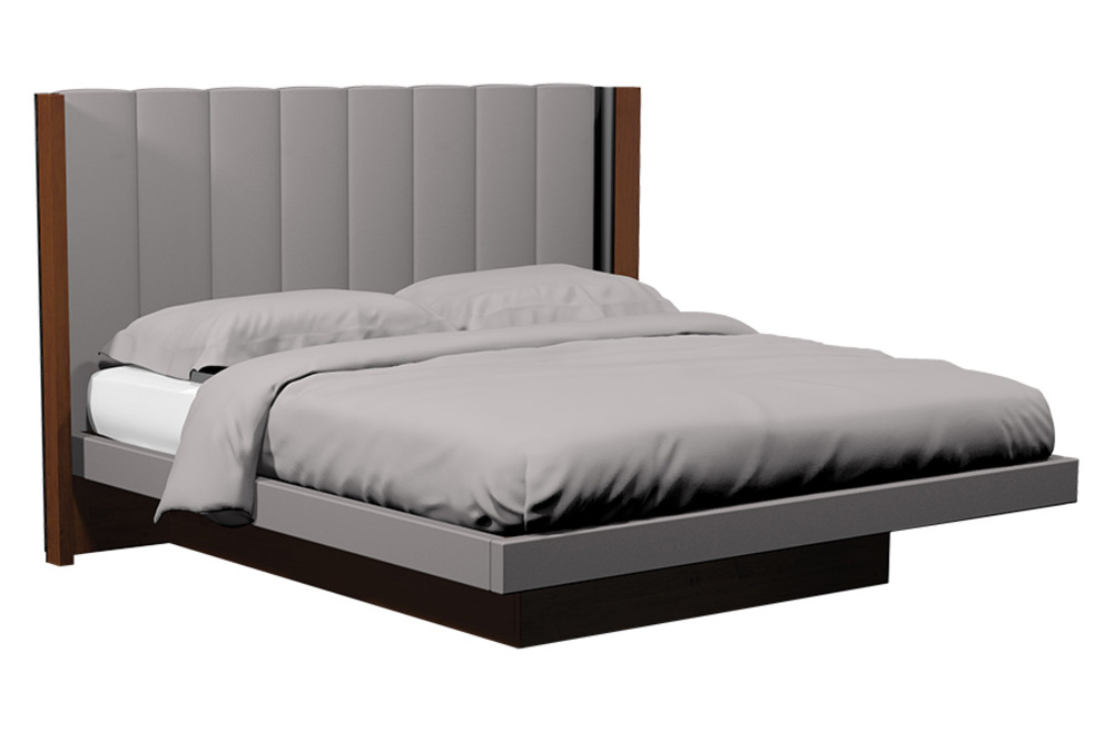 Country View Woodworking - Vertical Panel Upholstered Platform Bed
