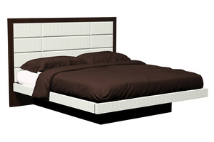 Thumbnail of Country View Woodworking - 12 Panel Upholstered Platform Bed