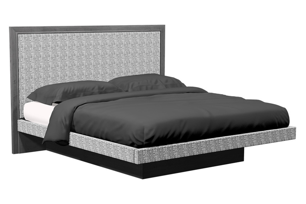 Country View Woodworking - 1 Panel Upholstered Platform Bed