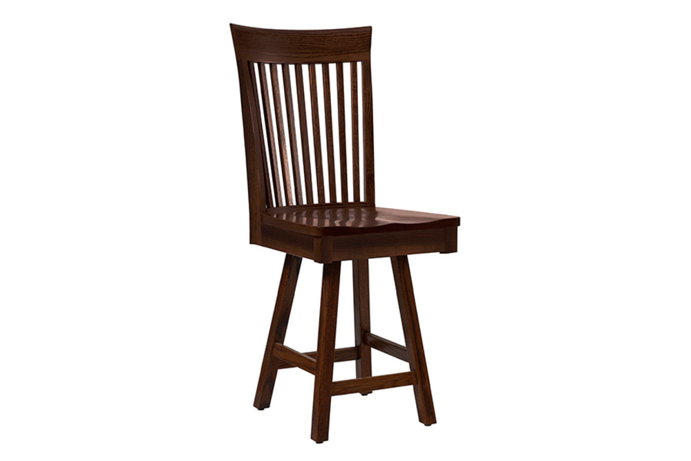 Country View Woodworking - Side Bar Stool with Swivel