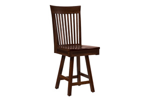 Thumbnail of Country View Woodworking - Side Bar Stool with Swivel