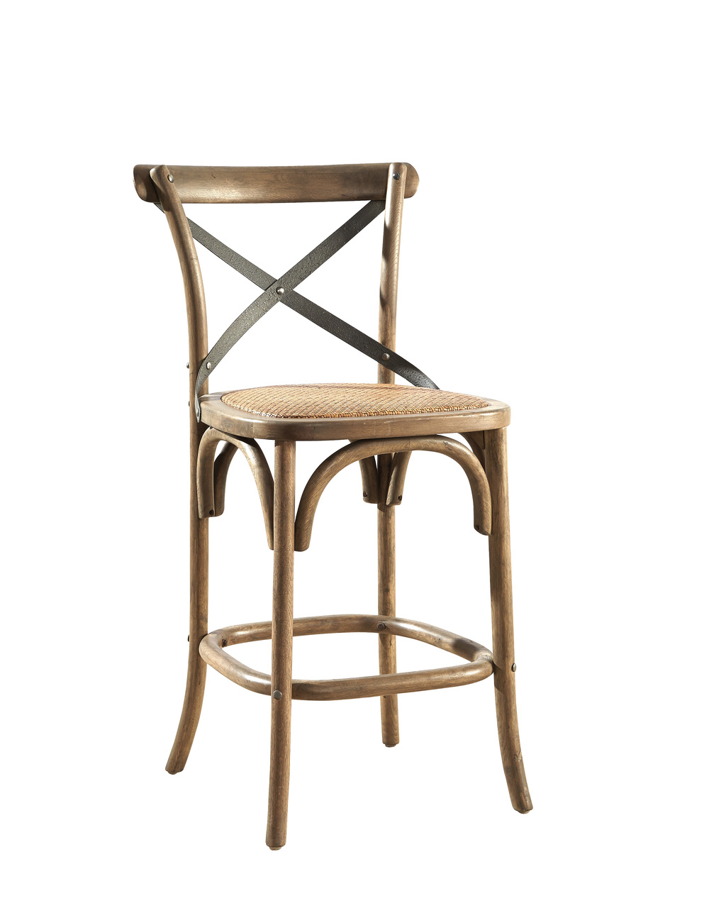 Furniture Classics Limited - Bentwood Counterstool with Metal Back