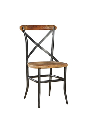 Thumbnail of Furniture Classics Limited - Metal and Wood Cross Chair