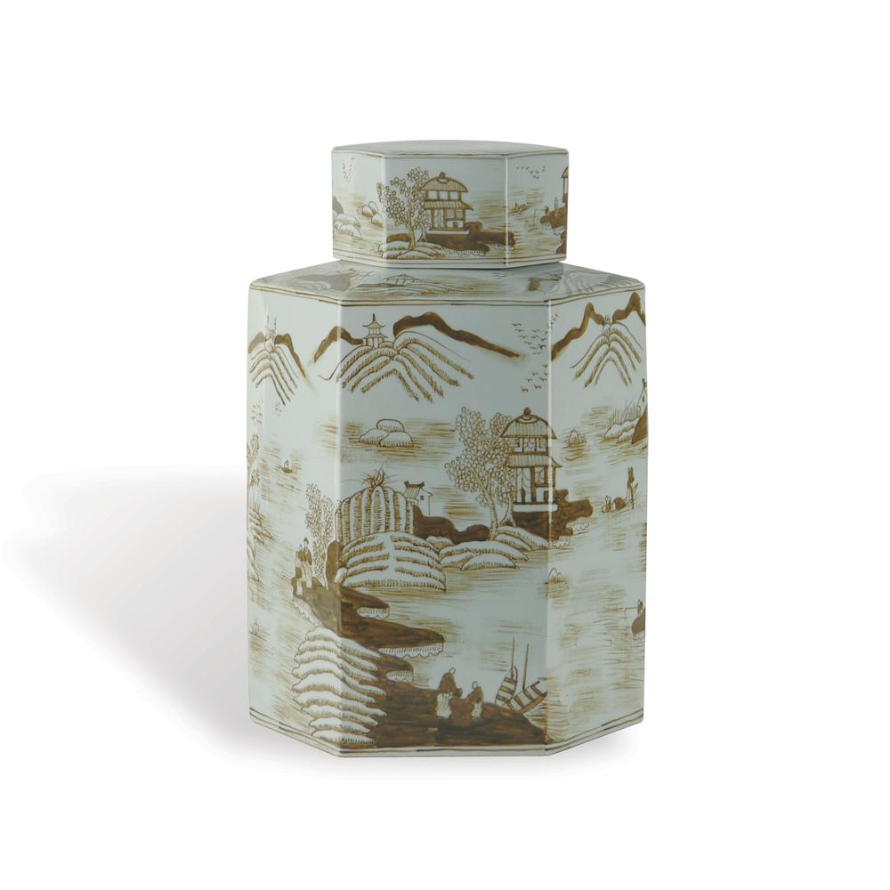 Port 68 - Canton Large Brown Jar