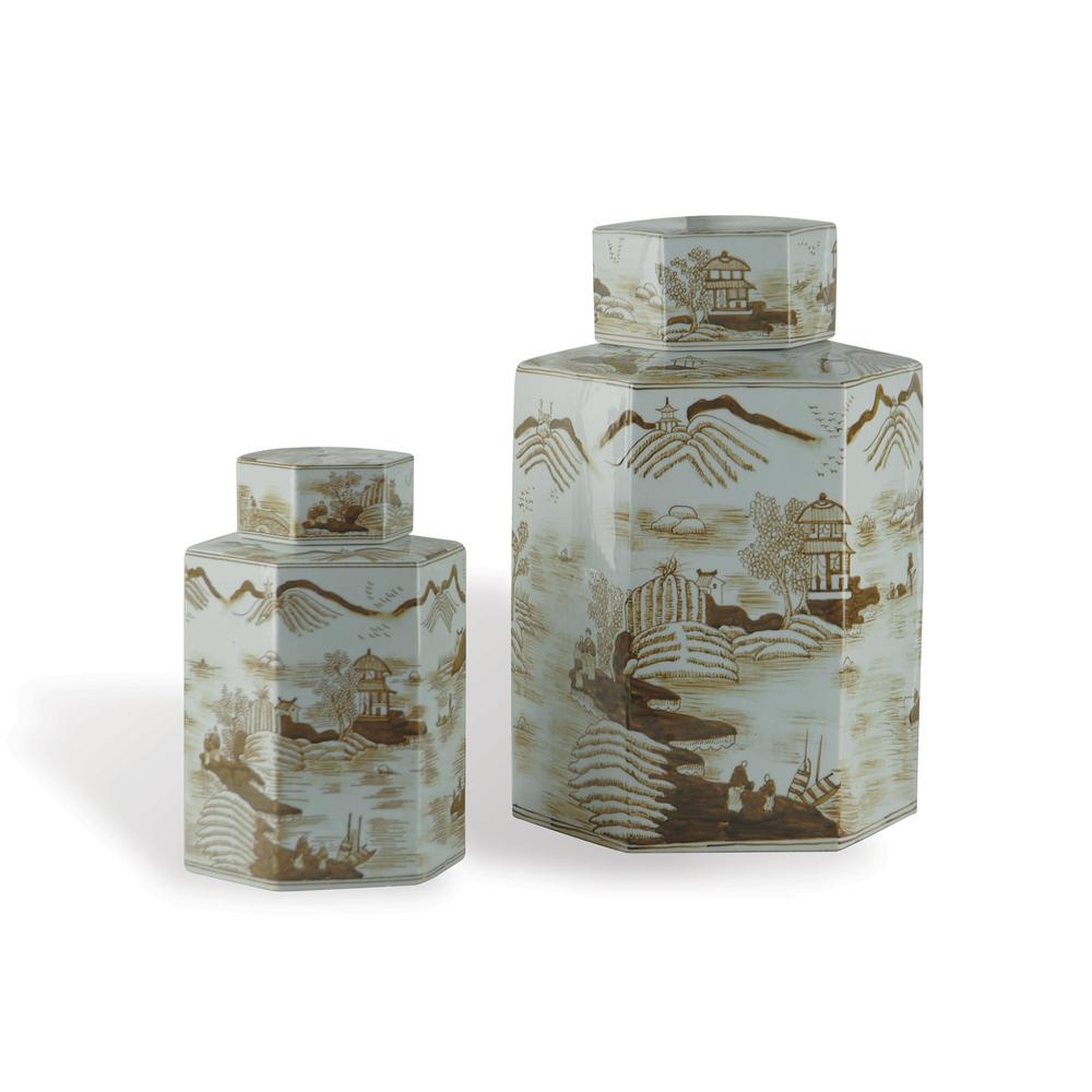 Port 68 - Canton Small Brown Jar