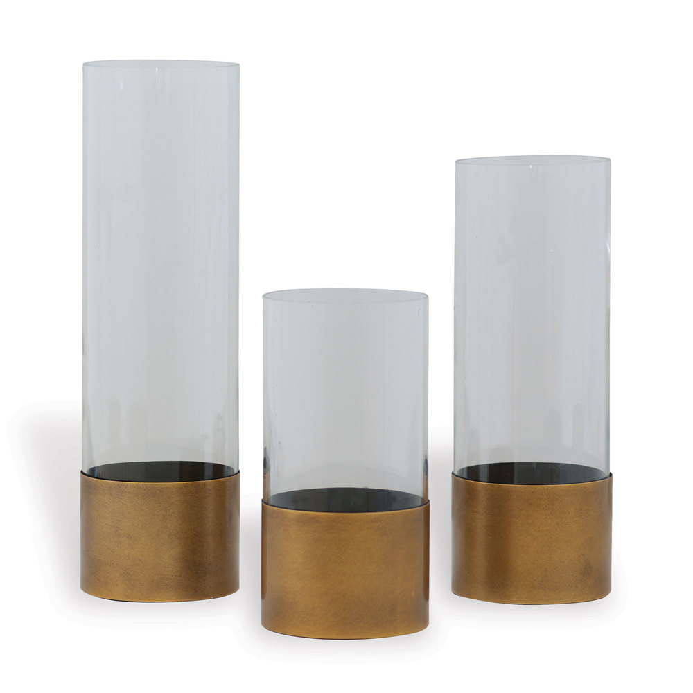 Port 68 - Evanston Clear Vases, Set/3