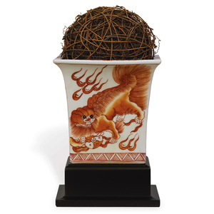 Thumbnail of Port 68 - Chow Spice Square Planter with Stand