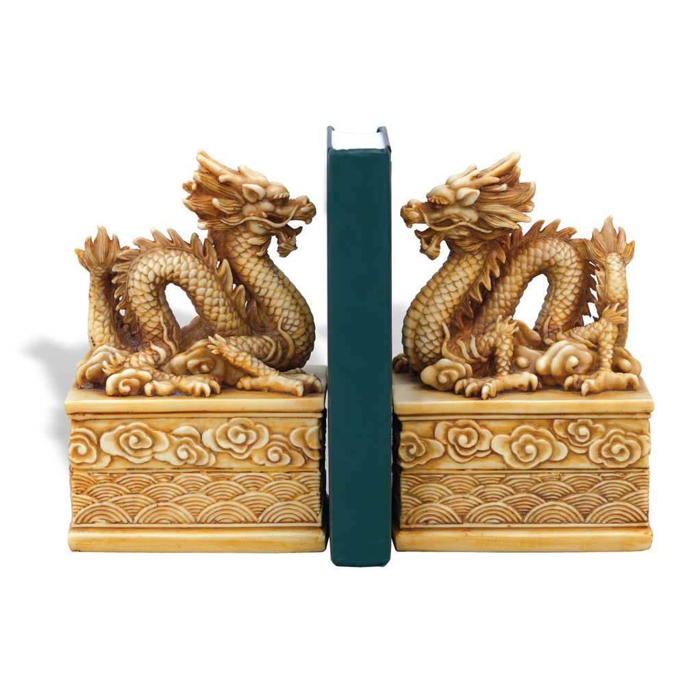 Port 68 - Dragon Ivory Bookends, Set/2