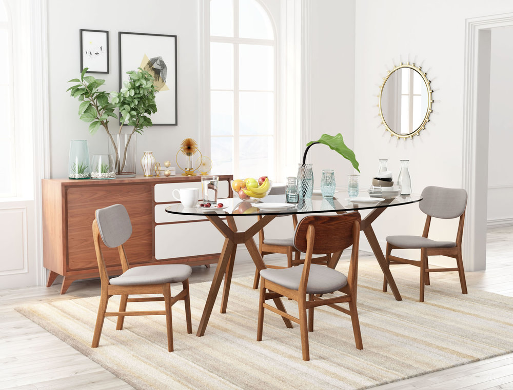 Zuo Modern Contemporary - Midtown Dining Chair - Set of 2 - Gray