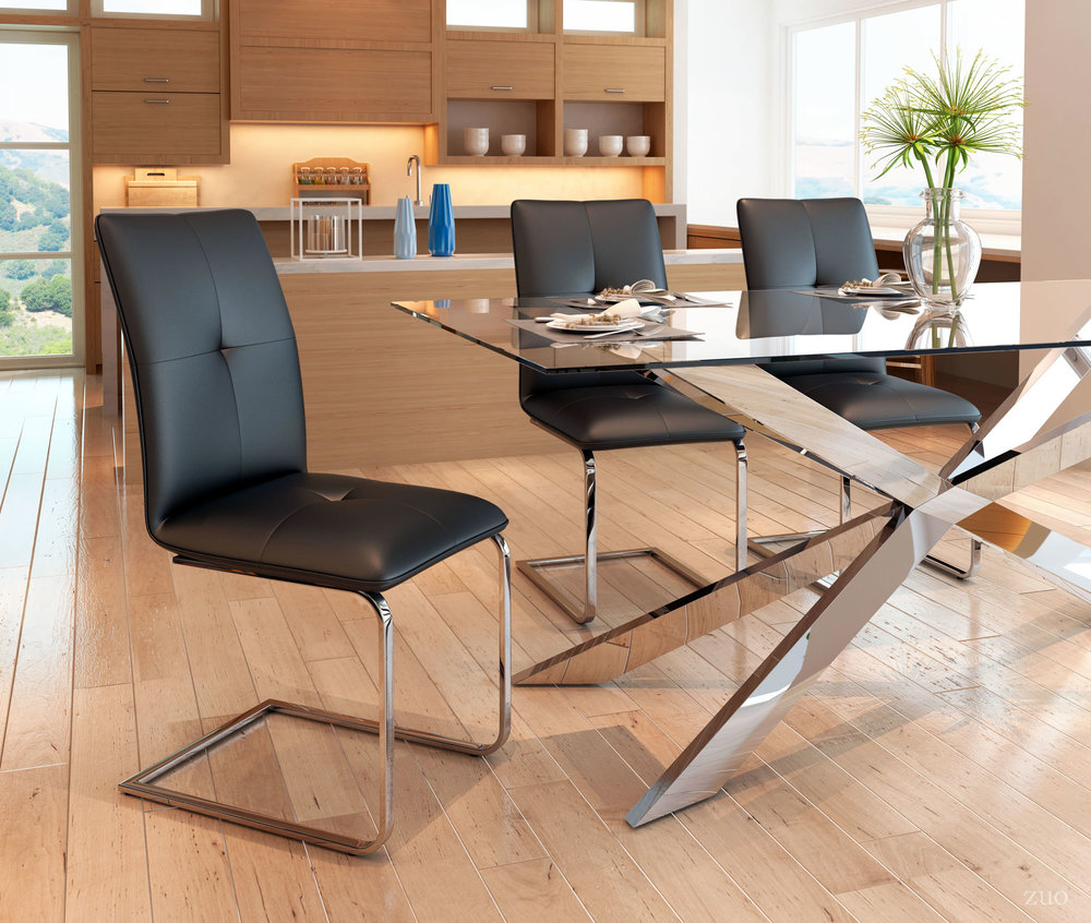 ZUO MODERN CONTEMPORARY, INC - Anjou Dining Chair - Set of 2 - Black