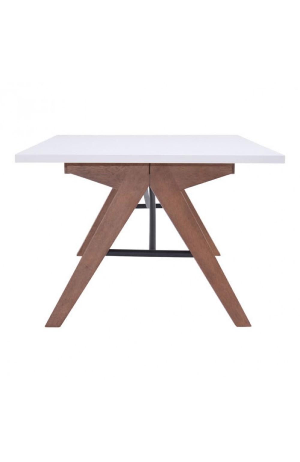 Zuo Modern Contemporary - Saints Coffee Table Walnut & White