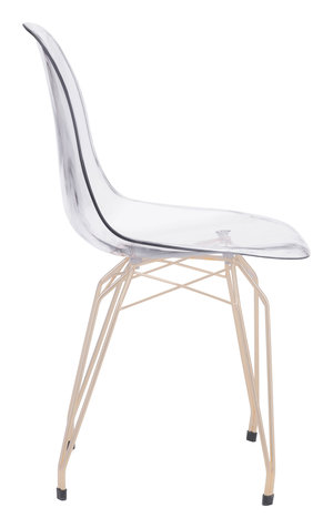 Thumbnail of Zuo Modern Contemporary - Shadow Dining Chair - Set of 2 - Transparent & Gold