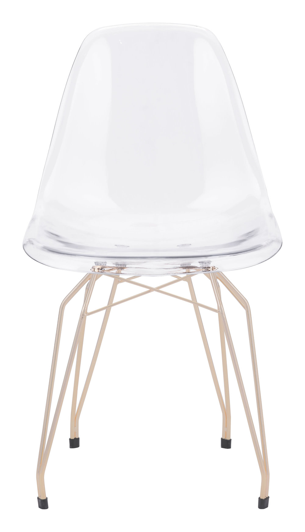 Zuo Modern Contemporary - Shadow Dining Chair - Set of 2 - Transparent & Gold