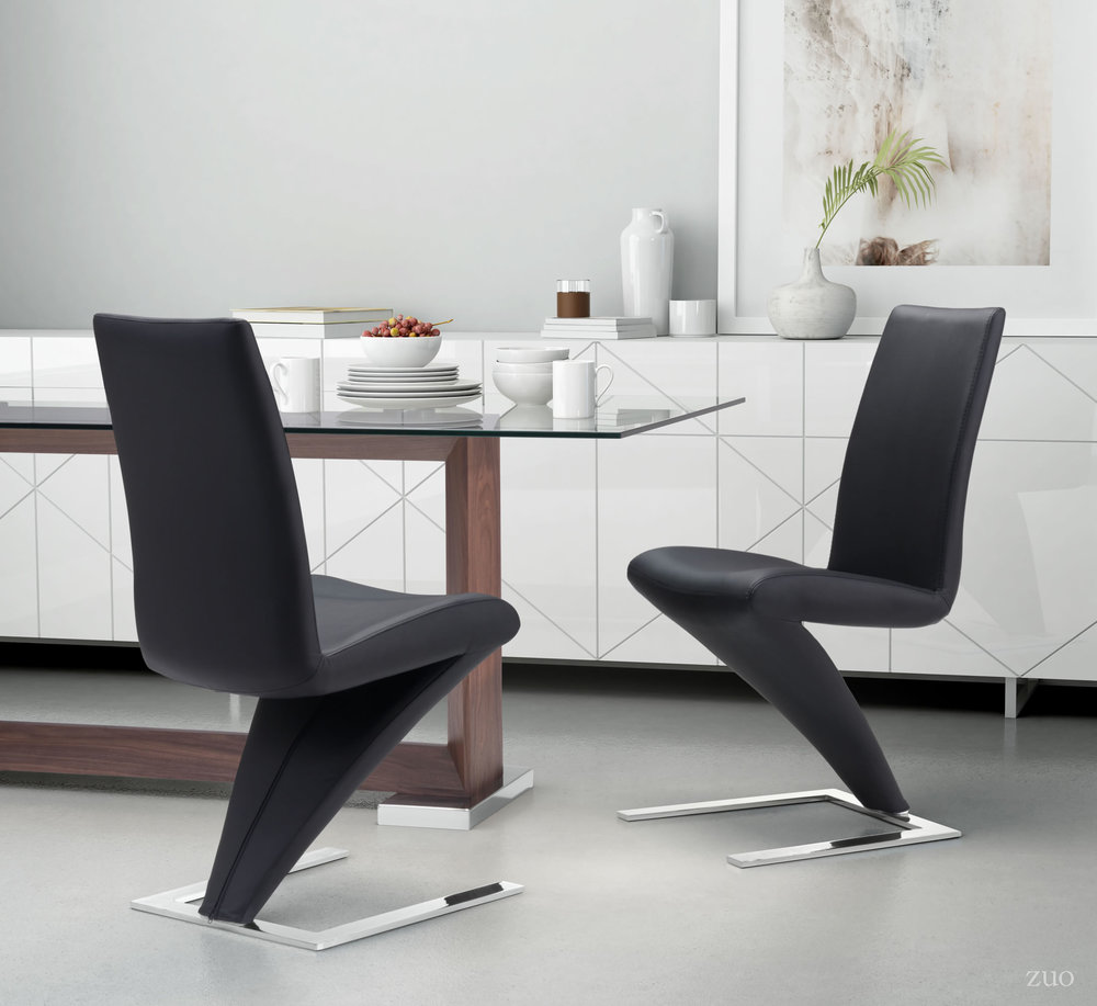Zuo Modern Contemporary - Herron Dining Chair - Set of 2 - Black