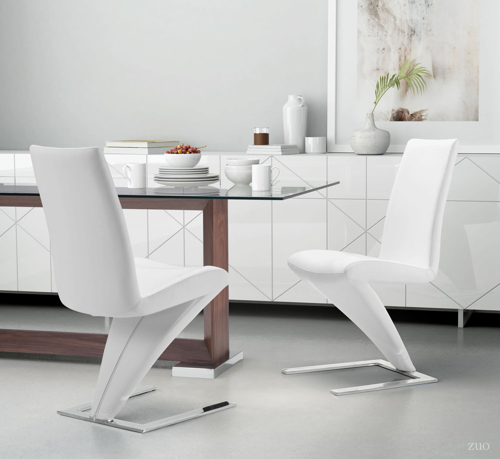 Zuo Modern Contemporary - Herron Dining Chair - Set of 2 - White