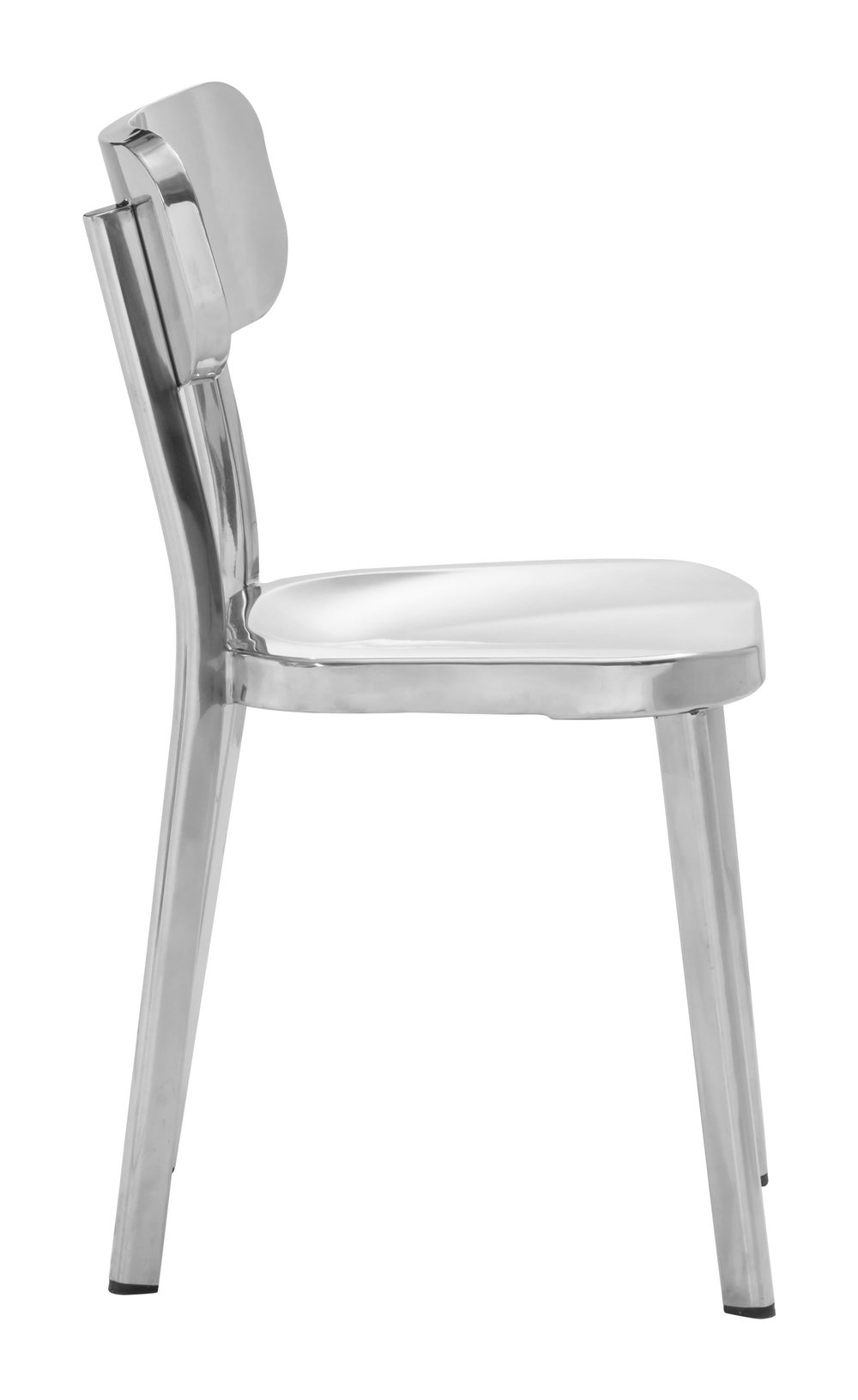 Zuo Modern Contemporary - Winter Dining Chair - Set of 2 - Polished Stainless Steel