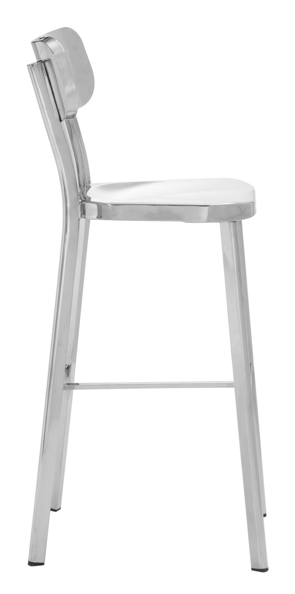 Zuo Modern Contemporary - Winter Bar Chair Polished Stainless Steel