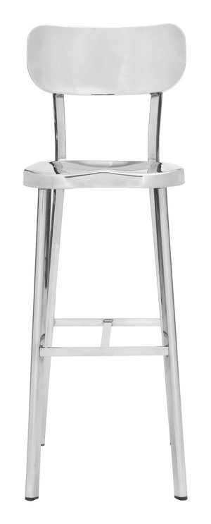 Thumbnail of Zuo Modern Contemporary - Winter Bar Chair Polished Stainless Steel