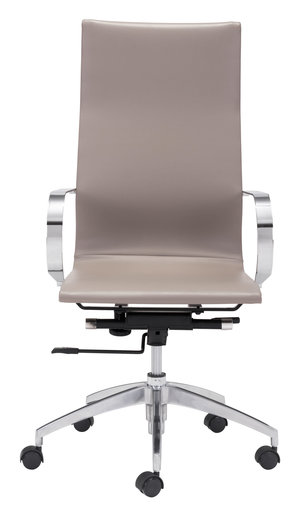 Thumbnail of Zuo Modern Contemporary - Glider High Back Office Chair Taupe