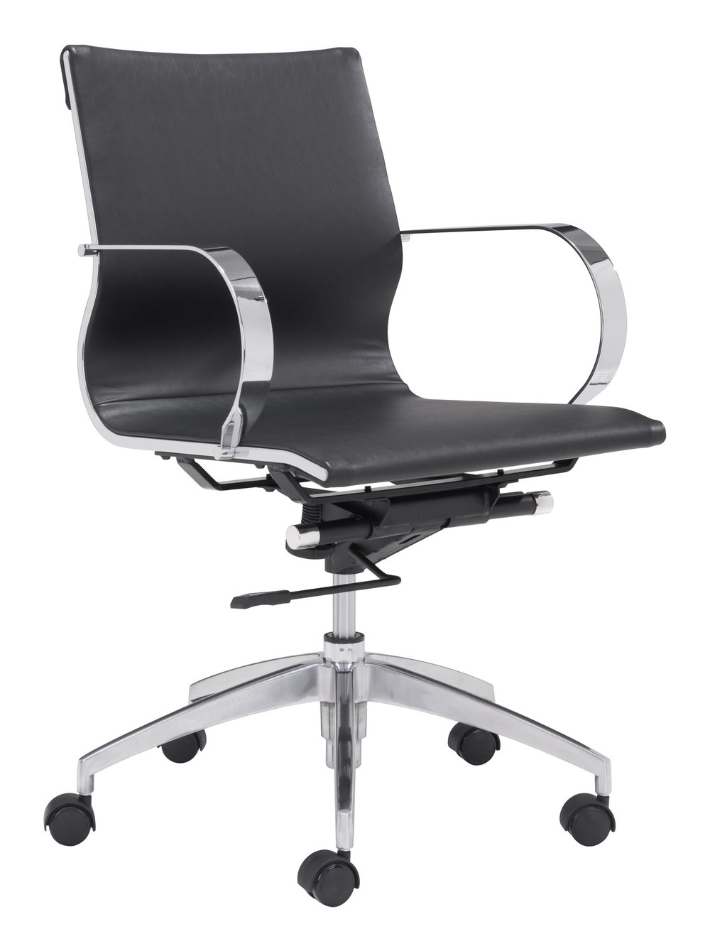 Zuo Modern Contemporary - Glider Low Back Office Chair Black