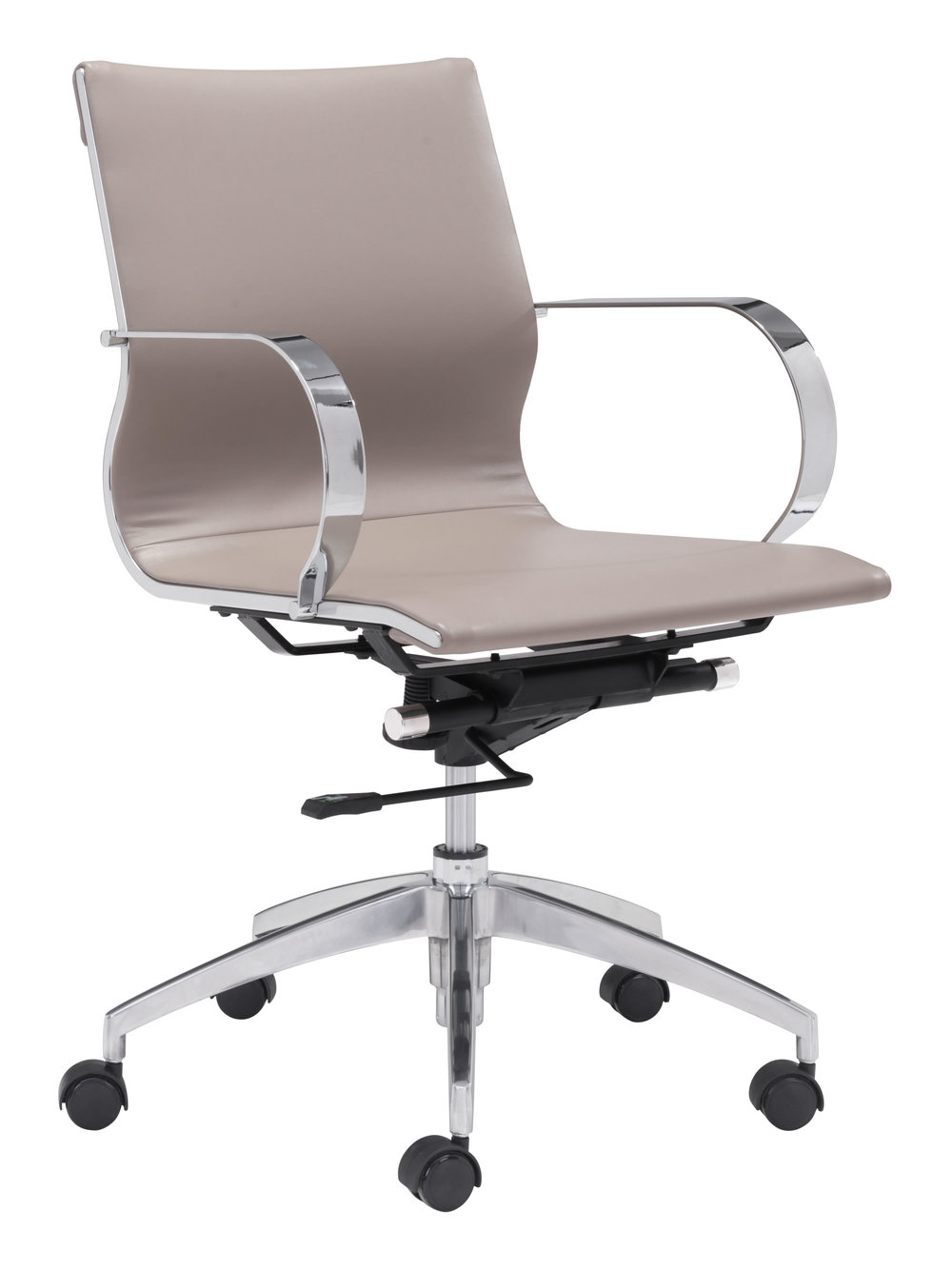 Zuo Modern Contemporary - Glider Low Back Office Chair Taupe