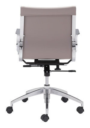 Thumbnail of Zuo Modern Contemporary - Glider Low Back Office Chair Taupe