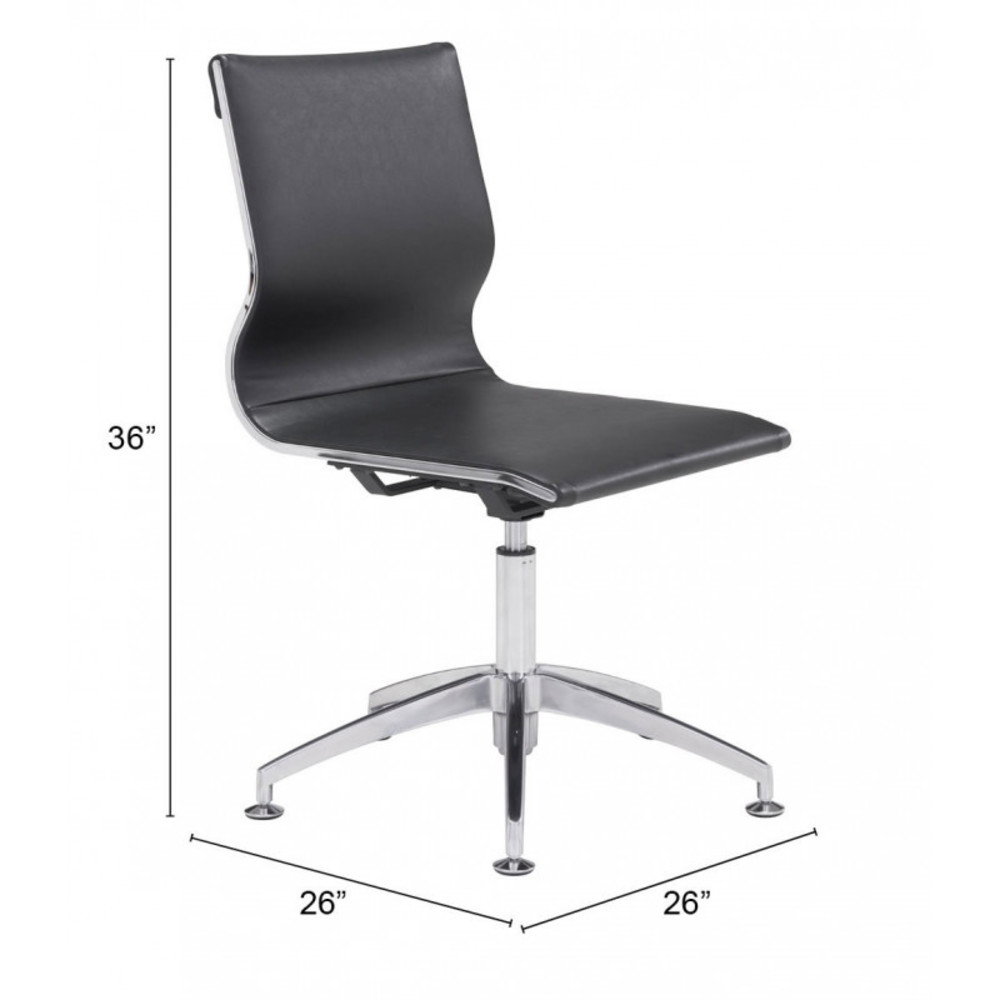Zuo Modern Contemporary - Glider Conference Chair Black