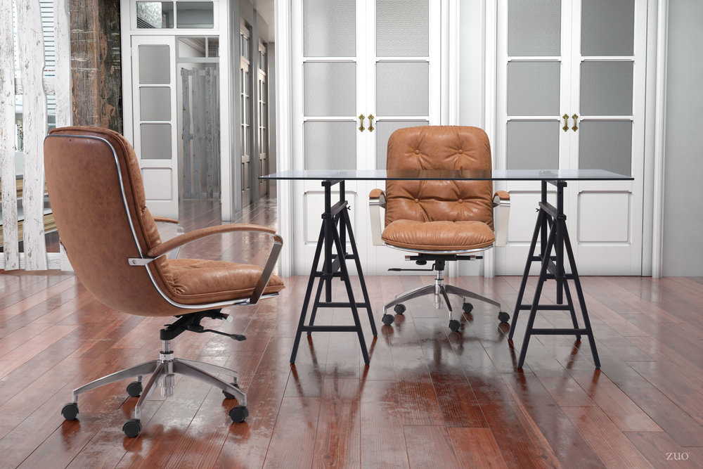 Zuo Modern Contemporary - Avenue Office Chair Vintage Coffee