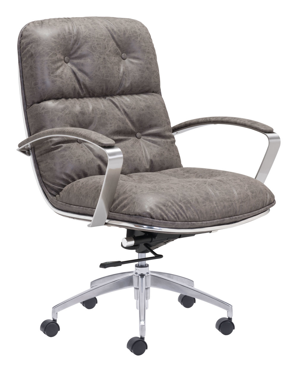 Zuo Modern Contemporary - Avenue Office Chair Vintage Gray