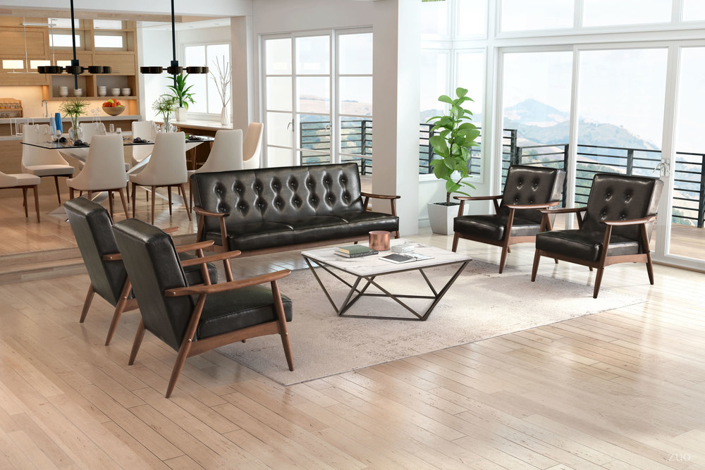 Zuo Modern Contemporary - Rocky Arm Chair Black