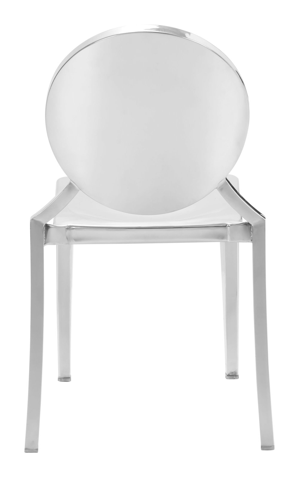 Zuo Modern Contemporary - Eclipse Dining Chair - Set of 2 - Stainless Steel