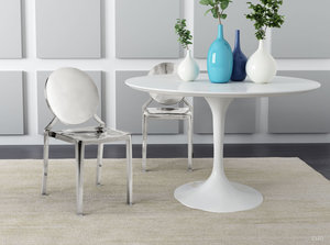 Thumbnail of Zuo Modern Contemporary - Eclipse Dining Chair - Set of 2 - Stainless Steel