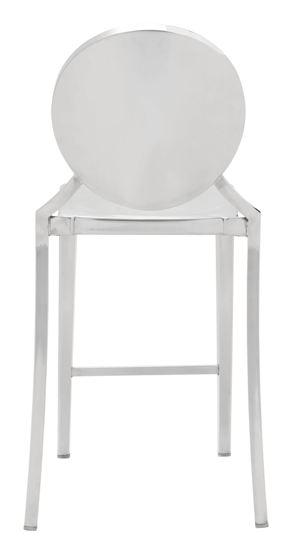 ZUO MODERN CONTEMPORARY, INC - Eclipse Counter Chair, Set/2, Stainless Steel