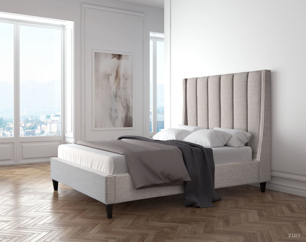 Zuo Modern Contemporary - Gilded Age Queen Bed Gray
