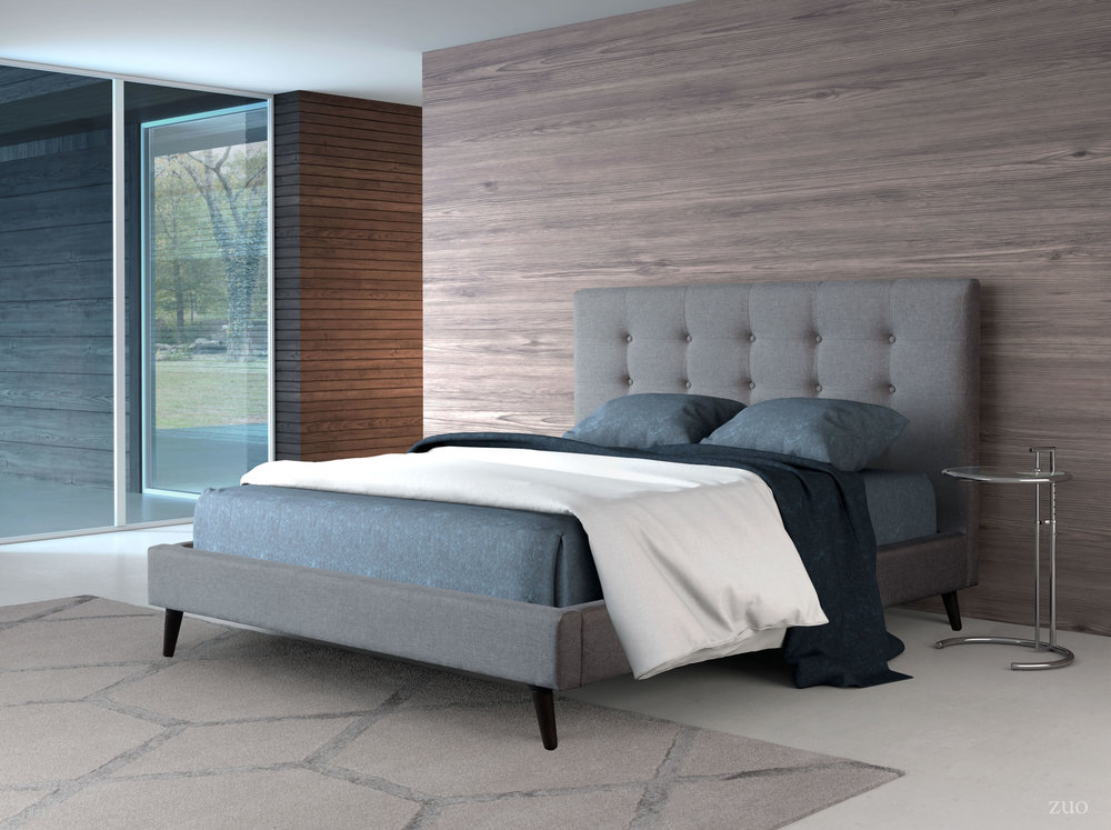 Zuo Modern Contemporary - Modernity Queen Bed Gray