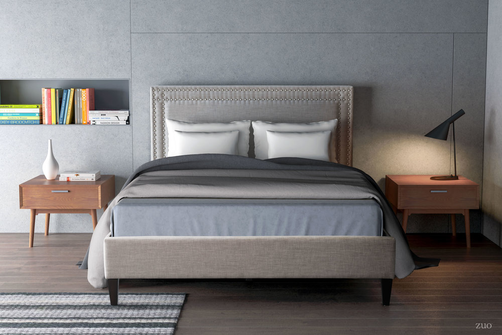 Zuo Modern Contemporary - Renaissance King Bed Gray