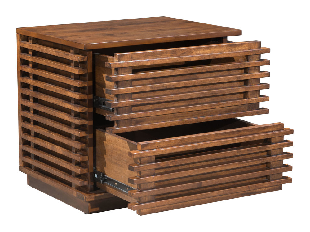 Zuo Modern Contemporary - Linea End Table Walnut