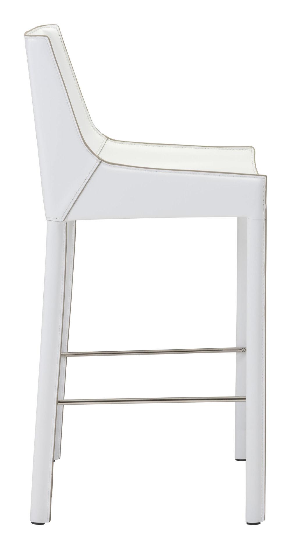 Zuo Modern Contemporary - Fashion Bar Chair, Set/2, White