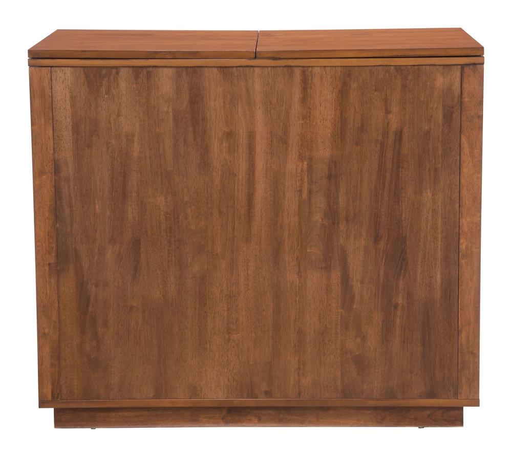 Zuo Modern Contemporary - Linea Bar Cabinet Walnut